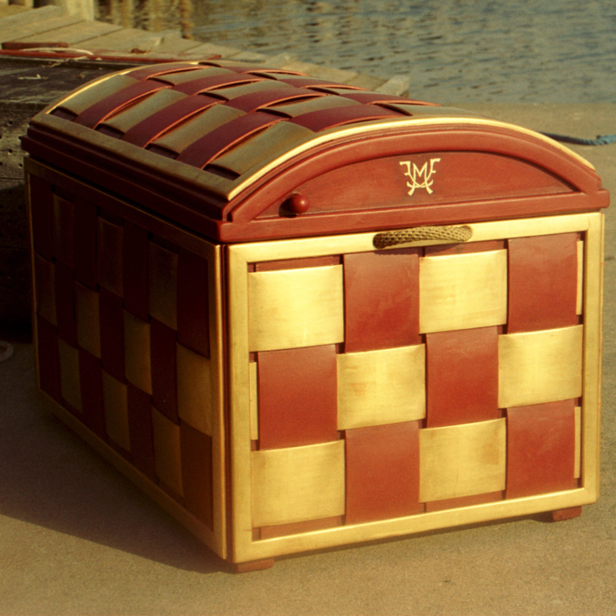 Golden chest for the danish crown prince family