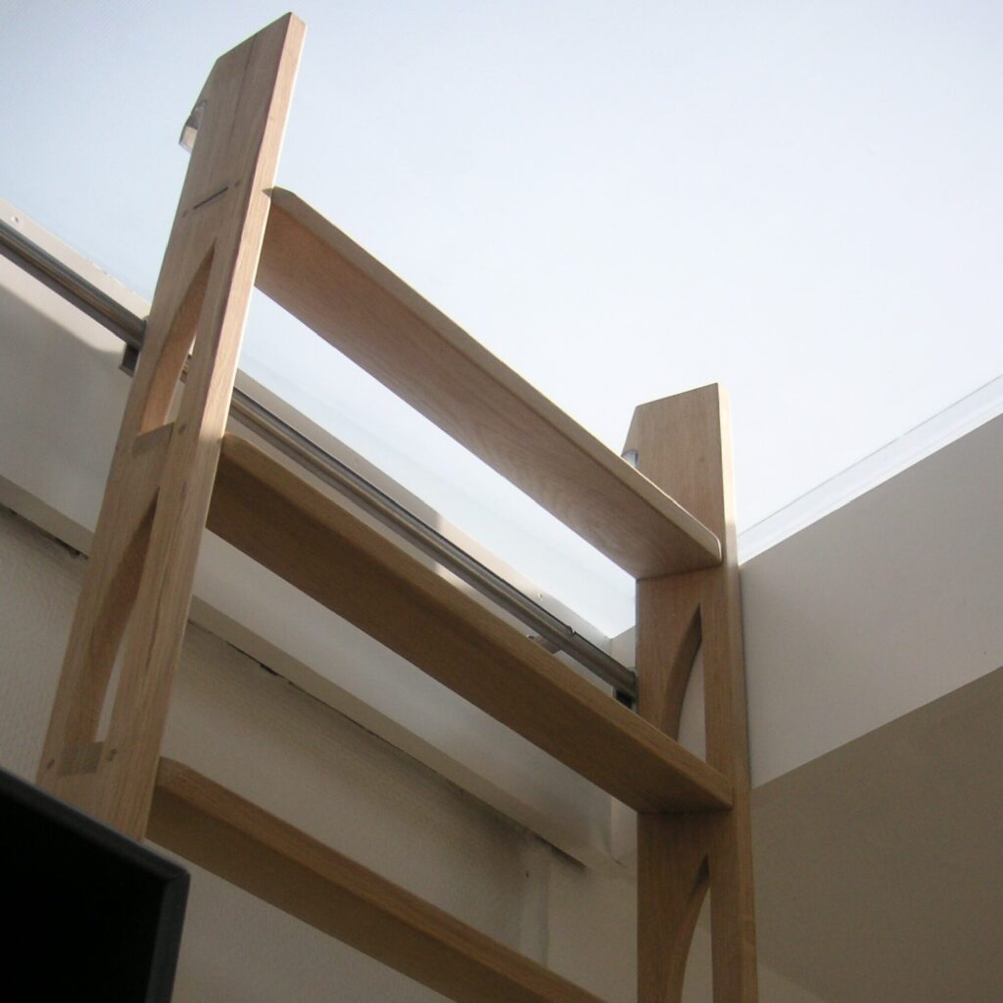 Upright loft ladder